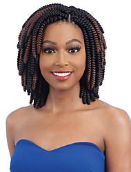 cheap -Braiding Hair Kenzie Curl Pre-loop Crochet Braids Synthetic Hair 20 roots / pack 1pc / pack Hair Braids Ombre Short