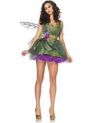 cheap -Fairytale Tinker Bell Princess Tiana Christmas Dress Flower Girl Dress Women's A-Line Slip Halloween Christmas Christmas Halloween Festival / Holiday Polyster Green Women's Carnival Costumes Christmas