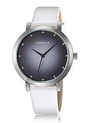 Недорогие -Жен. Повседневные часы Модные часы Наручные часы Китайский Кварцевый Повседневные часы Кожа Группа На каждый день Elegant Черный Белый