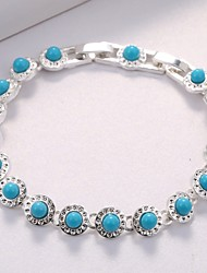 cheap -Women's Cubic Zirconia Chain Bracelet Classic Elegant Silver Plated Bracelet Jewelry Blue For Wedding Party