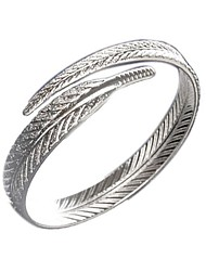 cheap -Women's Cuff Bracelet Feather Fashion Gold Plated Bracelet Jewelry Silver For Gift Daily