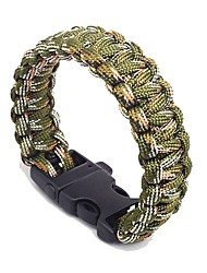 cheap -Paracord Bracelet Survival Bracelet Outdoor Survival Whistle Nylon Camping / Hiking Outdoor Exercise Camping / Hiking / Caving Army Green 1 pcs