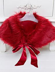 abordables -Enfants Fille simple Couleur Pleine Manches Courtes Fausse Fourrure Costume & Blazer Gris