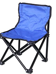 cheap -Camping Chair Portable Foldable Compact Durable Aluminium alloy for 1 person Camping / Hiking Hunting Fishing Beach Autumn / Fall Spring Dark Blue