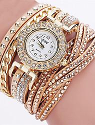 Недорогие -Жен. Наручные часы Diamond Watch золотые часы Кварцевый Кожа Черный / Белый / Синий Секундомер Повседневные часы Аналоговый Дамы На каждый день Мода Элегантный стиль Хэллоуин - / Один год / Один год