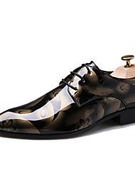 Недорогие -Муж. Комфортная обувь Оксфорд Весна / Осень Туфли на шнуровке Морской синий / Золотой / Красный / Для вечеринки / ужина / Для вечеринки / ужина