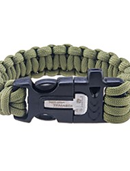 cheap -Paracord Bracelet Fire Starter Outdoor First Aid Nylon Fiber Metalic Camping / Hiking Camping / Hiking / Caving Black Army Green 1 pcs