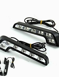 cheap -2pcs Light Bulbs 6W High Performance LED 6 Daytime Running Light For Mercedes-Benz C200 / C180 / Classic Universal