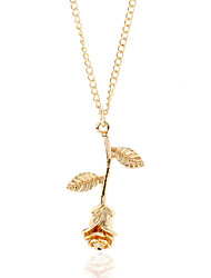 cheap -Women's Choker Necklace Pendant Necklace Snowflake Ladies Simple Fashion Alloy Rose Gold Gold Silver Necklace Jewelry One-piece Suit For Street Club / Y Necklace