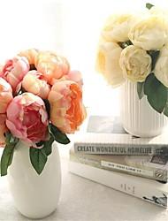 Недорогие -1 букет 6 головы дамаск круглый цветок искусственные розы цветы свадьба украшение шелковые цветы домашний фестиваль декора