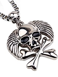 cheap -Men's Pendant Necklace Chain Necklace Skull Pirates Gothic Fashion Satanic Alloy Silver Necklace Jewelry One-piece Suit For Holiday Going out