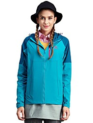 cheap -Women's Hiking Fleece Jacket Outdoor Windproof Warm Quick Dry Top Full Length Visible Zipper Running Camping / Hiking Casual Forest Green / Sky Blue / Fuchsia Hiking Fleece Camping & Hiking Apparel