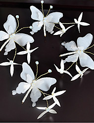 cheap -Fabric Hair Clip with Butterfly Design 4pcs Wedding / Special Occasion Headpiece