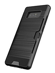 cheap -Case For Samsung Galaxy Note 8 / Note 5 Card Holder / Shockproof Back Cover Solid Colored Hard Plastic