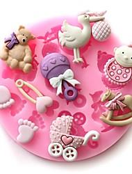 Недорогие -Детские партии силиконовые формы торт детские шоколадные мыло ремесло формы DIY выпекать инструменты
