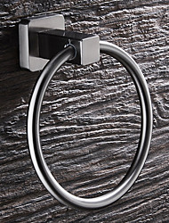 cheap -Towel Bar Modern Stainless Steel 1 pc - Hotel bath towel ring