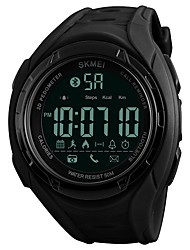 cheap -SKMEI Men's Sport Watch Digital Watch Quartz Quilted PU Leather Black / Khaki / Clover 50 m Water Resistant / Waterproof Bluetooth Calendar / date / day Digital Luxury Casual Fashion - Black Green