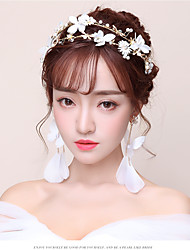 cheap -Velvet Chiffon / Alloy Headbands with Lace 1pc Wedding / Party / Evening Headpiece