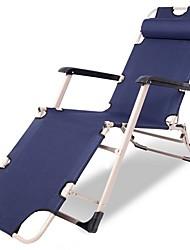 cheap -Beach Chair Camping Chair Foldable Folding Oxford cloth Steel Alloy for 1 person Beach Camping Autumn / Fall Spring White Dark Blue Coffee