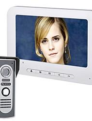 Недорогие -7-дюймовый TFT видеодомофон дверной звонок домофон комплект 1-камера 1-монитор ночного видения 720p 90 ° угол обзора с hd 700tvl камерой ЖК-дисплей настенный громкой связи