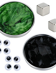 cheap -2 pcs Magnet Toy Magnetic Putty Building Blocks Super Strong Rare-Earth Magnets Neodymium Magnet Puzzle Cube Thinking Putty Magnetic DIY Magnetic Type Stress and Anxiety Relief Office Desk Toys