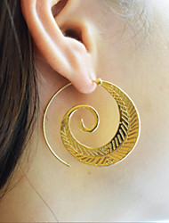cheap -Women's Hoop Earrings Twist Circle Vintage Fashion Earrings Jewelry Gold / Silver For Party Gift Daily Evening Party Street Bar