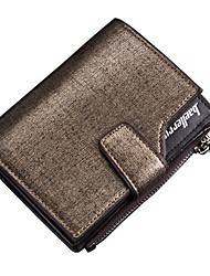 cheap -Men's Zipper PU Wallet Gold / Blue