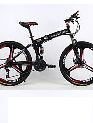 cheap -Mountain Bike / Folding Bike Cycling 21 Speed 26 Inch / 700CC SHIMANO Double Disc Brake Suspension Fork Rear Suspension Ordinary / Standard Aluminium Alloy / Steel