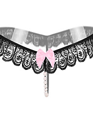 cheap -Women's Lace / Cut Out G-strings & Thongs Panties / Ultra Sexy Panties Embroidered Black White Blushing Pink One-Size / Going out / Club