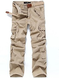 cheap -Men's Hiking Cargo Pants Camo Outdoor Multi-Pocket Cotton Pants / Trousers Dark Grey Black Army Green Khaki Coffee Hunting Hiking Camping S M L XL XXL