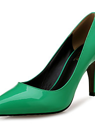 cheap -Women's Heels Stiletto Heel Pointed Toe Patent Leather Comfort Spring / Fall Green / Party & Evening / Dress / 3-4 / Party & Evening