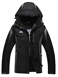 cheap -Men's Ski Jacket Ski / Snowboard Thermal / Warm Windproof Skiing Polyester Winter Jacket Ski Wear