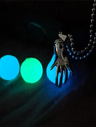 cheap -Men's Women's Pendant Necklace Fashion Luminous Copper Dark Blue Light Blue Light Green Necklace Jewelry One-piece Suit For Masquerade Bar