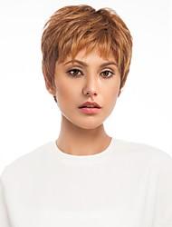 cheap -Human Hair Blend Wig Short Natural Wave Short Hairstyles 2020 Natural Wave Side Part Machine Made Women's Natural Black #1B Medium Auburn#30 Strawberry Blonde / Light Blonde 8 inch