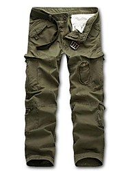 cheap -Men's Hiking Cargo Pants Outdoor Multi-Pocket Cotton Pants / Trousers Black Army Green Dark Green Dark Gray Khaki Fishing Hiking Camping M L XL XXL XXXL
