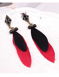 cheap -Women's Drop Earrings Bohemian Feather Earrings Jewelry Rainbow For Party Daily