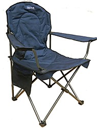 cheap -Fishing Chairs Camping Chair with Cup Holder Portable Foldable Folding Steel Alloy Nylon for 1 person Fishing Beach Camping Autumn / Fall Spring Dark Blue