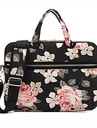 "cheap -13.3"" 14"" 15.6"" Shoulder Messenger Bag Briefcase Handbags Canvas Floral Print for Macbook/Surface/HP/Dell/Samsung/Sony Etc"
