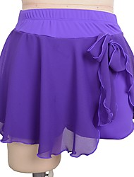 cheap -Figure Skating Dress Women's Ice Skating Skirt Black Violet Red Spandex Inelastic Training Competition Skating Wear Solid Colored Ice Skating Figure Skating