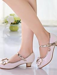 cheap -Girls' Tiny Heels for Teens PU Heels Little Kids(4-7ys) / Big Kids(7years +) Bowknot White / Pink Spring / TR / EU37