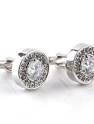 abordables -Boutons de manchettes Grande occasion Classique Mode Cristal Broche Bijoux Blanc Violet Pour Quotidien Formel
