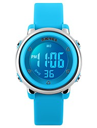 cheap -SKMEI Women's Ladies Sport Watch Wrist Watch Quartz Silicone Black / White / Blue 50 m Water Resistant / Waterproof Calendar / date / day Chronograph Digital Luxury Casual Fashion - Fuchsia Green Blue