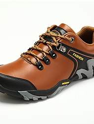 cheap -Men's Comfort Shoes Faux Leather Winter Athletic Shoes Hiking Shoes Black / Light Brown / Dark Brown / Fashion Boots
