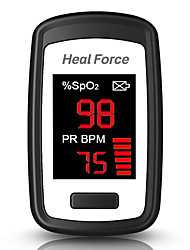 cheap -Heal Force  302L OLED Display Foldable AAA Battery Finger Pulse Oximeters Random Color