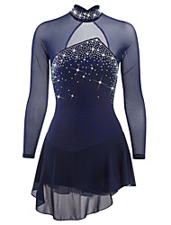 cheap -Figure Skating Dress Women's Girls' Ice Skating Dress Yan pink Violet Sky Blue Open Back Spandex High Elasticity Competition Skating Wear Quick Dry Anatomic Design Handmade Classic Ice Skating Figure