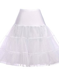 cheap -Princess Lolita Women's Petticoat Hoop Skirt Tutu Cosplay Yellow / Red / Pink Knee Length Costumes
