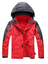 cheap -Men's Hiking 3-in-1 Jackets Winter Outdoor Waterproof Windproof Breathable Rain Waterproof Fleece 3-in-1 Jacket Winter Jacket Running Camping / Hiking Camping / Hiking / Caving Dark Grey Navy Purple