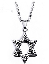 cheap -Men's Pendant Necklace Star Star of David Pentagram Fashion scottish Titanium Steel Titanium Silver Necklace Jewelry One-piece Suit For Gift Daily