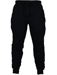 cheap -Men's Running Pants Track Pants Sports Pants Cotton Sports Winter Bottoms Running Fishing Casual Traveling Outdoor Warm Flannel lined Solid Colored Black Dark Grey Grey Dark Navy / Stretchy / Fleece