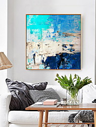 cheap -Framed Wall Art Print Painting Picture Home Decoration Décor Living Room Bedroom Framed Canvas Turquoise Blue Abstract
